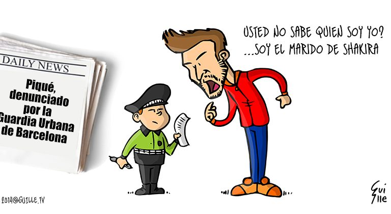 Piqué, denunciado por la Guardia Urbana de Barcelona 1